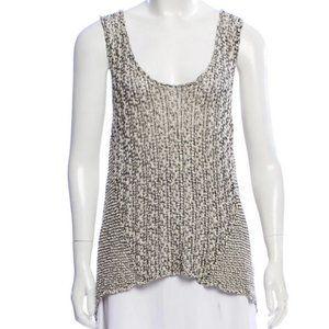 Helmut Lang Scoop Sleeveless Crochet Top Small